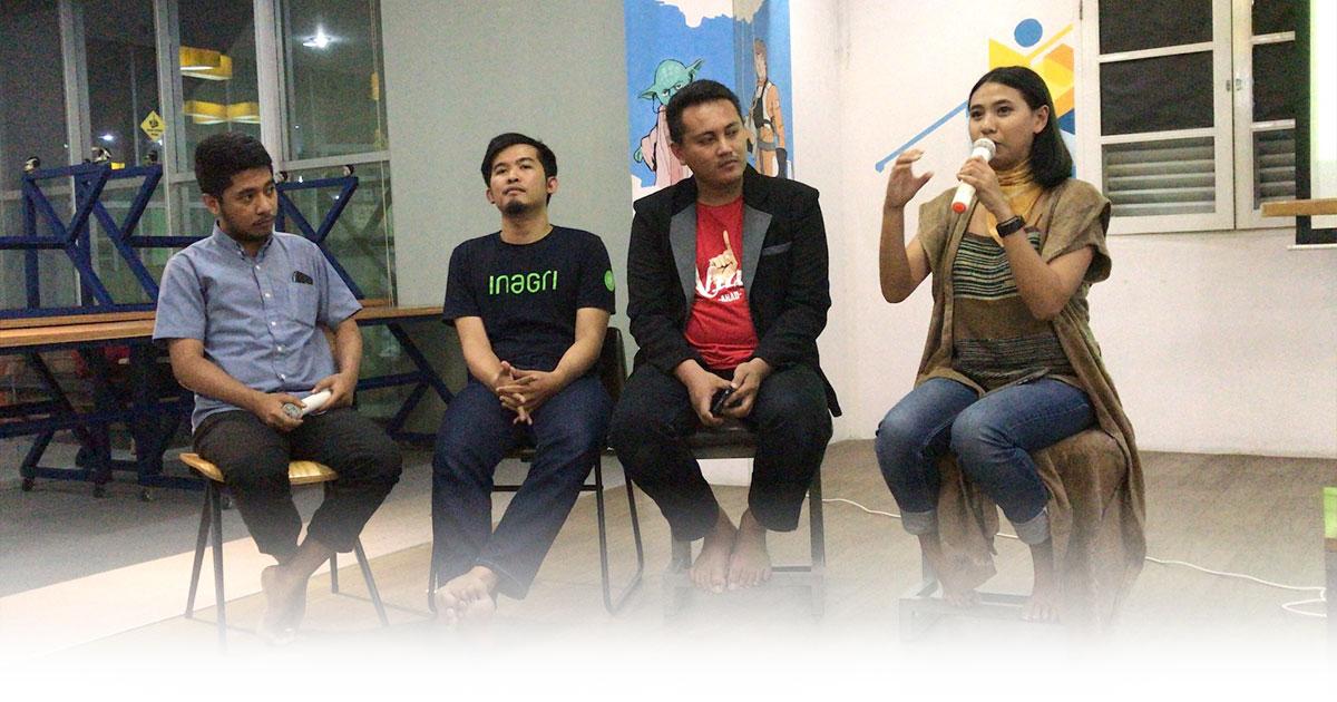 Pemaparan dari 3 Startup dalam Sharing Session